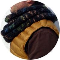 Cuello de punto jersey tejido con dos agujas