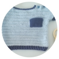 Cómo hacer un jersey para bebé de ganchillo. Talla de 6 a 9 meses.