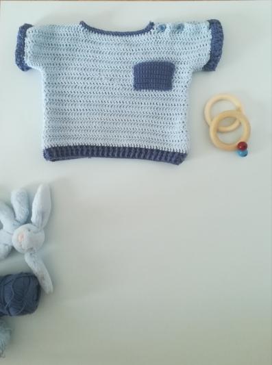 jersey para bebe de 6 a 9 meses a ganchillo