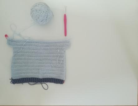 Jersey de ganchillo de bebé de talla de 6 a 9 meses