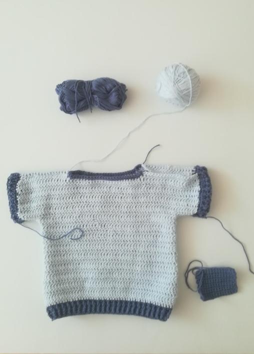 jersey de ganchillo de talla de 6 a 9 meses