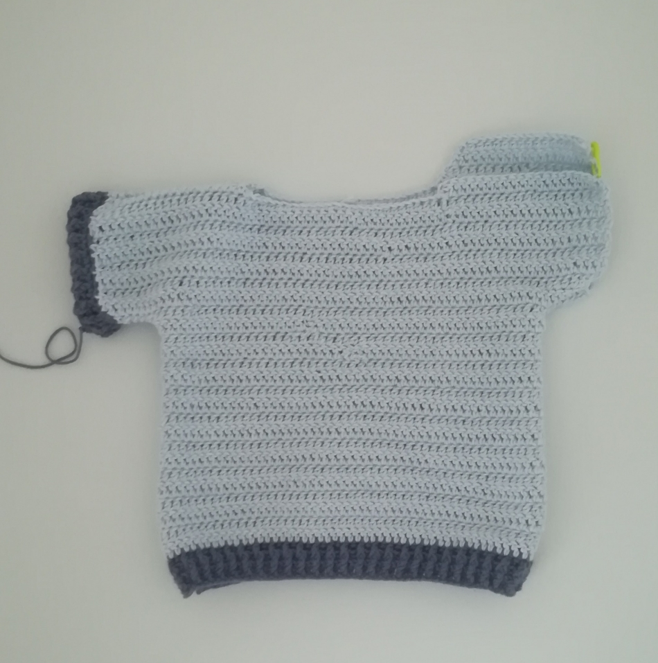 Como tejer un jersey de bebe de talla de 6 a 9 meses a ganchillo