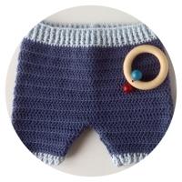 Cómo hacer unos pantalones para bebe a ganchillo. Talla de 6 a 9 meses